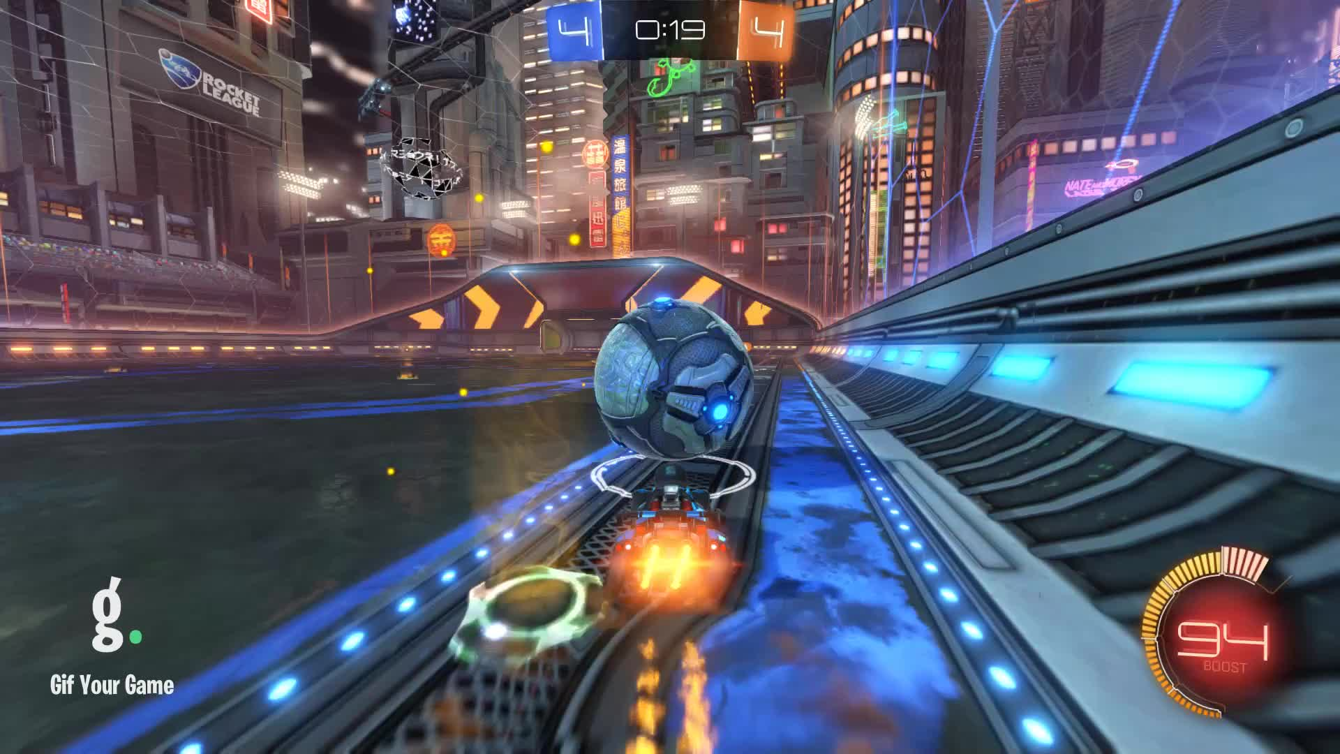 Gif Your Game, GifYourGame, Goal, Rocket League, RocketLeague, reGGie™, ⏱️ Goal 9: reGGie™ GIFs