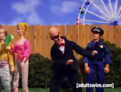 adultswim, animation, comedy, funny, parody, Dance Your Cares Away | Robot Chicken | Adult Swim GIFs