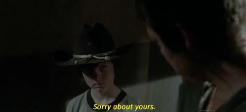 Watch Daryl Dixon Carl Grimes Im sor GIF on Gfycat. Discover more related GIFs on Gfycat