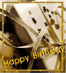Watch and share Animated Flashing Happy Birthday Greeting With Gift animated stickers on Gfycat