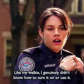 Watch this trending GIF on Gfycat. Discover more :'), missy peregrym, rookie blue GIFs on Gfycat