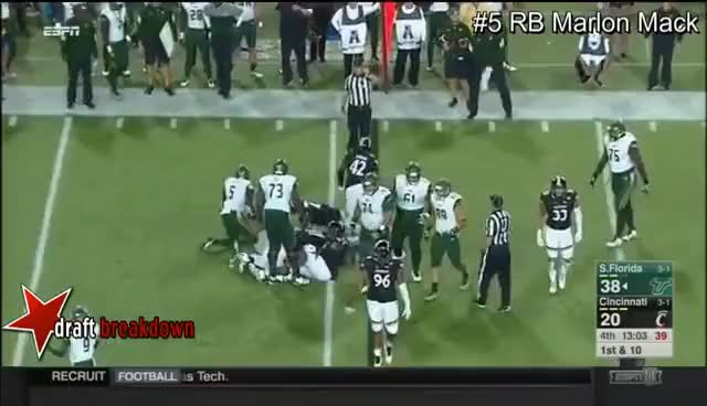 Watch and share RB Marlon Mack Vs Cincinnati 2016 GIFs on Gfycat