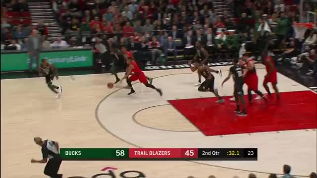 Watch Giannis with the chasedown on CJ McCollum GIF on Gfycat. Discover more related GIFs on Gfycat