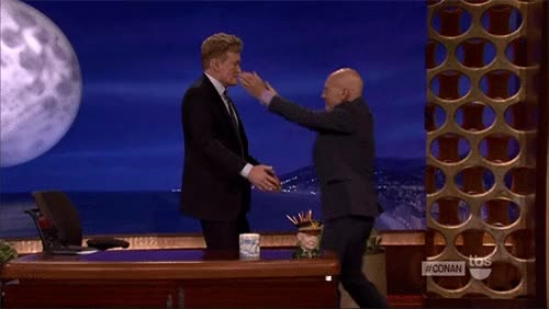 Watch and share Patrick Stewart GIFs and Conan O'brien GIFs on Gfycat