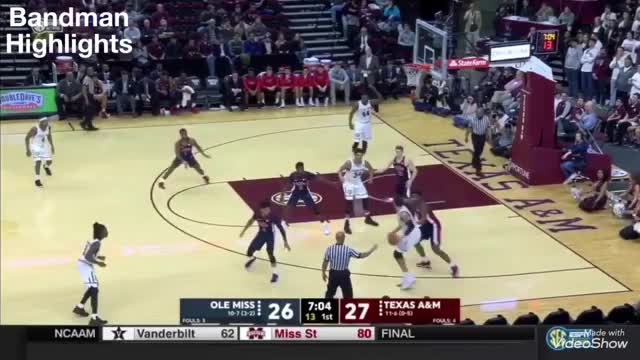 Watch and share Robert Williams Texas A&M Vs Ole Miss/1.16.18/Highlights/18pts 9reb 3blk GIFs on Gfycat