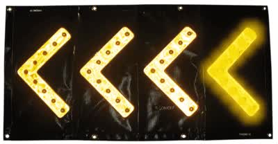 Watch and share Directional LED Flashing Arrow Light Banner - Singapore GIFs on Gfycat