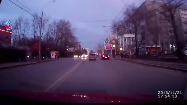 Watch and share November 21, 2013 - A Burst Pipe Causes The Road To Rupture In An Explosion Of Mud And A Car Runs Into The Rubble GIFs by tothetenthpower on Gfycat