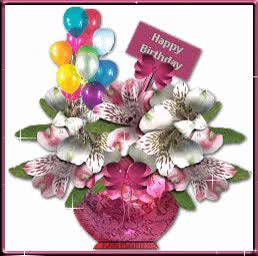 Watch and share Happy Birthday Wishes - Blinging Flower Vase GIFs on Gfycat