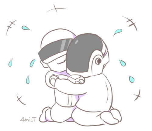 hug, Congratulations DAFT PUNK!!!  ????????????  Hug Hug Hug Hug!!!!! GIFs