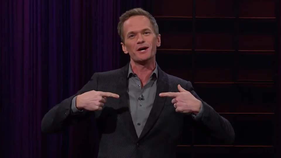 amazing, awesome, bro, cool, corden, harris, james, late, late late, like, neil, nice, night, patrick, perfect, show, story, tada, tongue, Neil Patrick Harris Steals the Show from James Corden GIFs