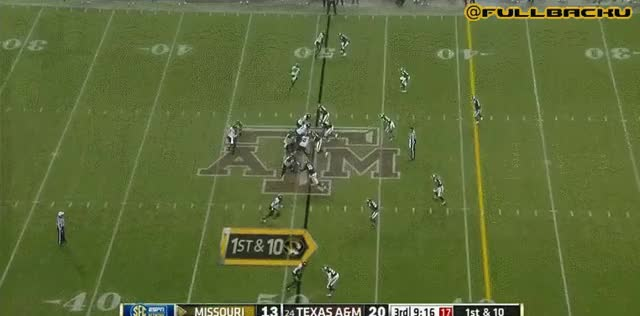 Watch and share Hansbrough 49 Yard TD Right Up The Middle GIFs by rockmnation on Gfycat