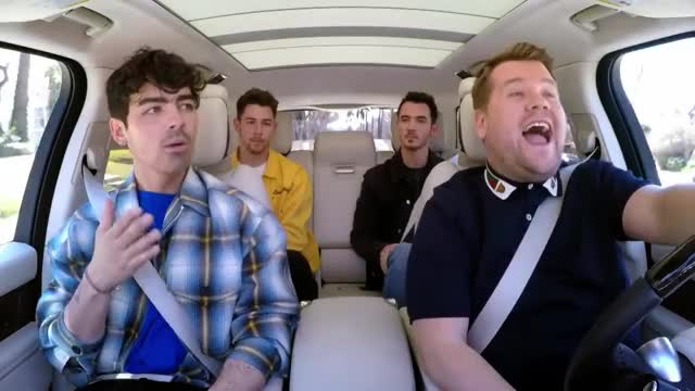 Watch this laughing GIF on Gfycat. Discover more Hollywood, Humor, carpool, cbs, celeb, celebrities, celebrity, celebs, comedian, comedy, corden, famous, funny, james corden, joe jonas, joke, jokes, karaoke, sucker GIFs on Gfycat