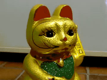 adios, bye, cat, charm, chinese, cu, farewell, feng, gold, golden, good, goodbye, later, lol, luck, see, shui, wave, waving, you, Chinese waving cat GIFs