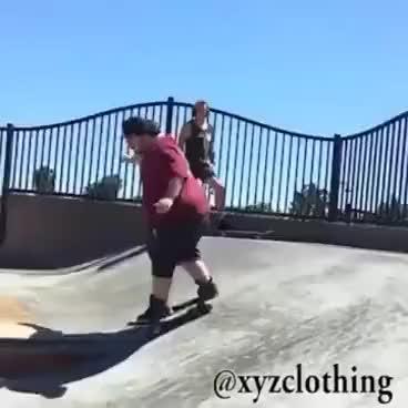 Watch and share Fat Skater Broken Leg GIFs on Gfycat