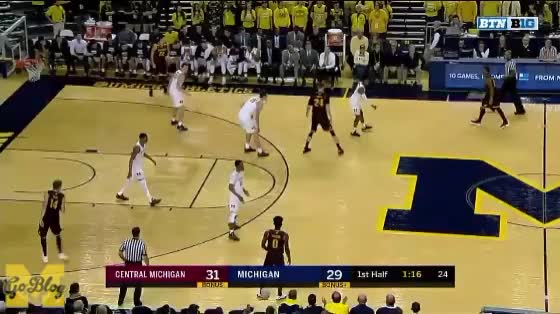 Watch and share Central Michigan GIFs and Zavier Simpson GIFs by MGoBlog on Gfycat