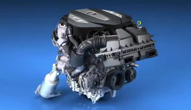 Watch and share Cadillac CT6 Twin-turbo 3.0-liter V6 Engine Animation GIFs on Gfycat