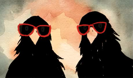 Watch and share Plus Malin Qu'un Corbeau ? Deux Corbeaux ! ZZ Top ? GIFs on Gfycat