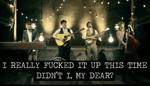 Watch and share Mumford And Sons GIFs and Little Lion Man GIFs on Gfycat