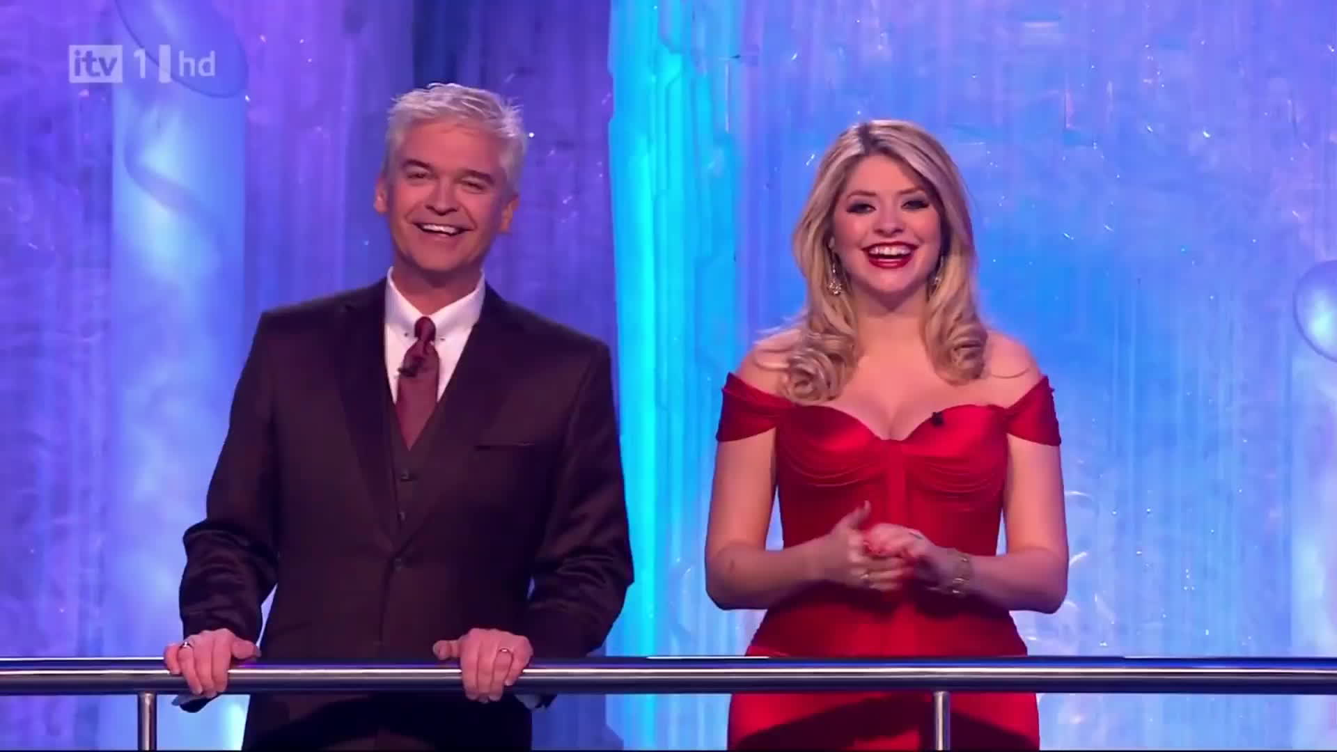 Holly Willoughby, holly willoughby dress, holly willoughby red dress, thehollywilloughby, Cleavage Trance (Busty in Red Dress) GIFs