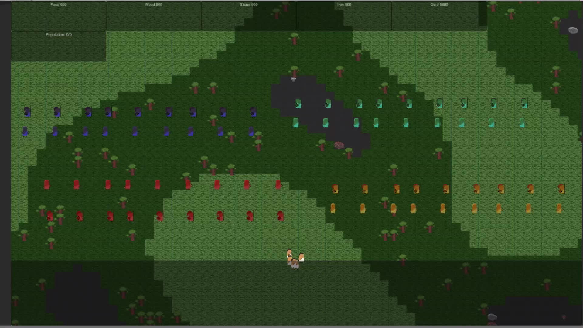 unity2d, RTS Target Finding Test GIFs