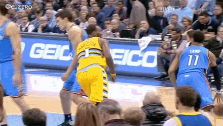 Watch and share Jordan Hamilton Punched Steven Adams, Got Ejected GIFs on Gfycat