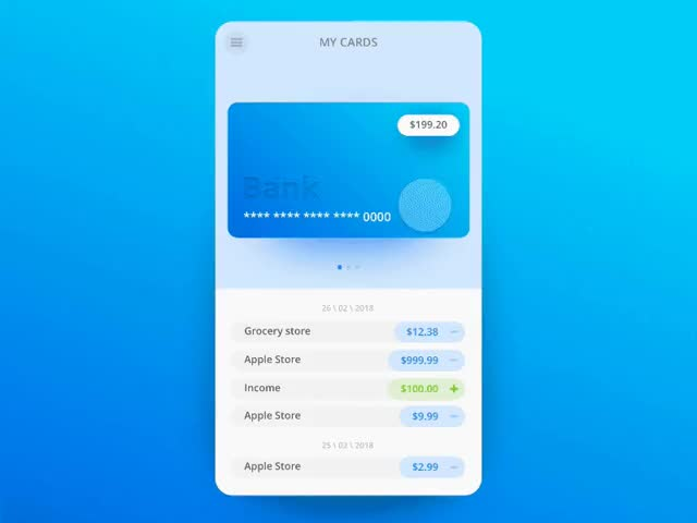 Watch and share Bank-app-mycards GIFs by A. Tamakov on Gfycat