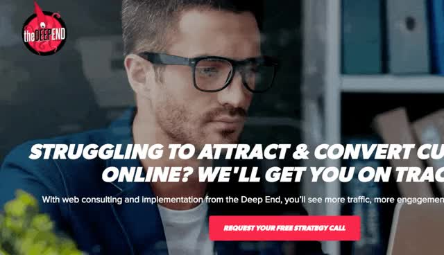 Watch and share The Deep End Design Website GIFs on Gfycat