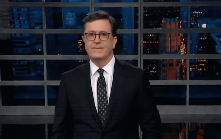 awesome, celebrate, colbert, dance, dancing, enjoy, excited, great, guitar, happy, listen, music, party, play, rhythm, stephen, trump, woohoo, yay, yeah, Funny Stephen GIFs