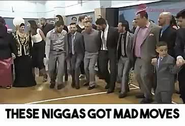 actuallyfunny, dancegavindance, That guy leading the group definitely didn't skip leg day a GIFs