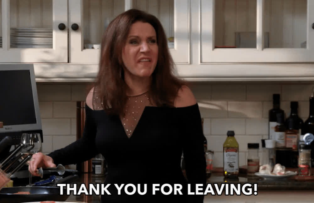 bye, curb your enthusiasm, get out, gtfo, susie essman, Thank You For Leaving GIFs