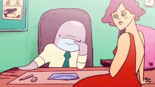 Watch When McClane puts on those glasses, you know he means business... Watch the latest episode of Fin Punch here! GIF by Cartoon Hangover (@cartoonhangover) on Gfycat. Discover more Frederatorblog, cartoons, dolphin, fin punch, glasses, lol GIFs on Gfycat