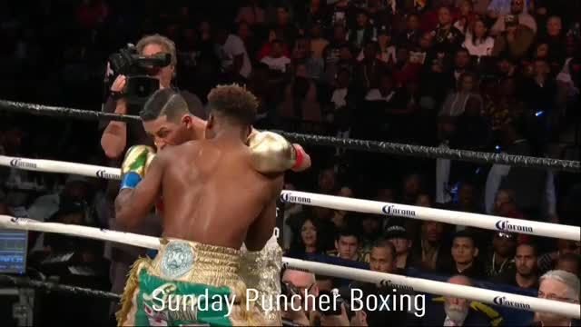 Watch Jermall Charlo makes a split-second adjustment to land his left hook inside the guard of Hugo Centeno to score the KO GIF by Tom_Cody (@tomcody) on Gfycat. Discover more Boxing, Hugo Centeno, Hugo Centeno Jr., Jermall Charlo, KO, Knockout GIFs on Gfycat