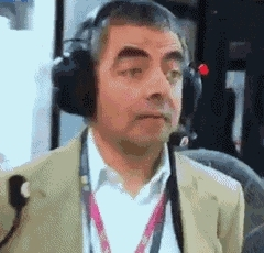headphones, rowan atkinson, headphones GIFs