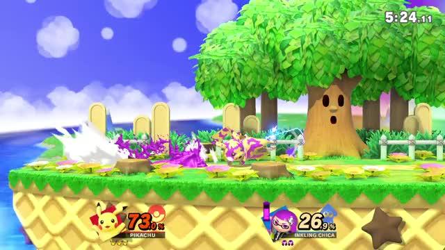 Watch and share Pikachu GIFs and Smash GIFs by javiuzu on Gfycat