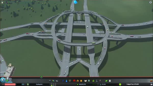 Watch and share My Most Beautiful Creation Yet: A 4-level Intersection With Two Roundabouts Inside And Full Weaving Of Traffic! (reddit) GIFs on Gfycat