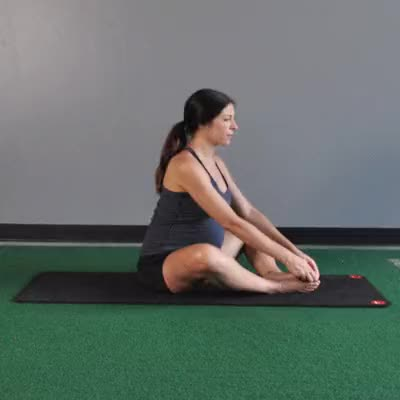 Watch 400x400_Pregnancy_Yoga_Stretches_for_Back_Hips_and_Legs_Bound_Angle_Pose GIF by Healthline (@healthline) on Gfycat. Discover more related GIFs on Gfycat