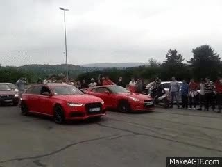 Watch and share Nissan GTR (Duca Borkovic) VS Audi RS6 GIFs on Gfycat