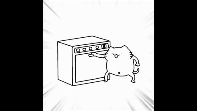 Watch and share Oven Cat GIFs on Gfycat