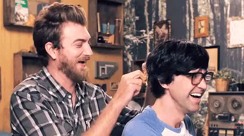 Watch None of These Days GIF on Gfycat. Discover more Good Mythical Morning, Link Neal, Rhett and Link, gmm, gmm 744, grave gif, hair grows back, well GIFs on Gfycat