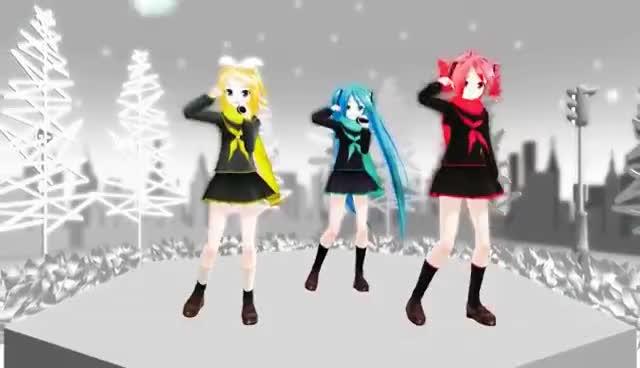 AMV, Anime, Miku Hatsune, Rin Kagamine, Teto, Vocaloid, Perfect Star, Perfect Style GIFs