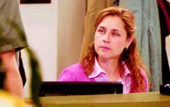 Jenna Fischer, Pam Beesly, bye, farewell, goodbye, salute, so long, the office, The Office Pam Salute GIFs