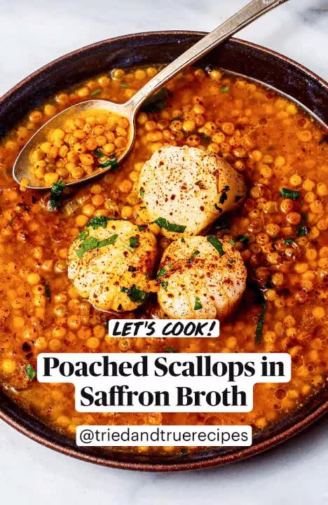 Watch and share Poached Scallops GIFs and Saffron Broth GIFs by triedandtruerecipes on Gfycat