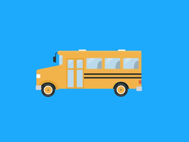 Watch and share Animation - School Bus GIFs on Gfycat