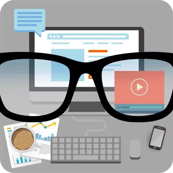 Watch and share Lunette Ecran Ordinateur GIFs on Gfycat