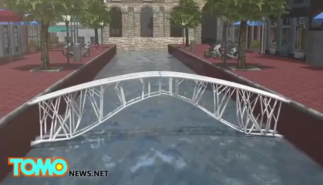 Watch 3D printing: first 3D-printed steel bridge to be built over Amsterdam canal - TomoNews GIF on Gfycat. Discover more related GIFs on Gfycat
