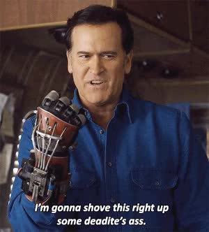 Watch and share Ash Vs Evil Dead GIFs on Gfycat