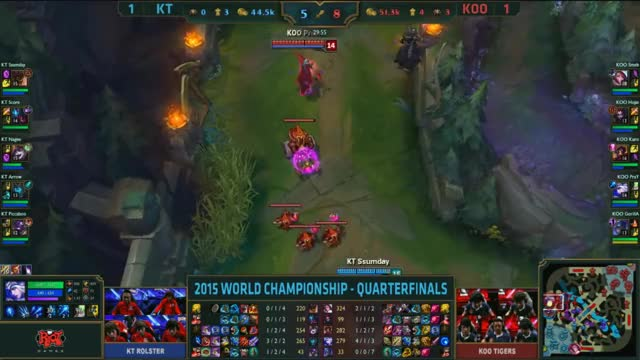 Watch and share [Worlds 2015] KOO Smeb $5 KT GIFs by ITCC on Gfycat