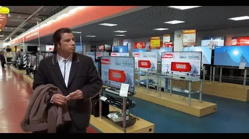 confusedtravolta, MRW I need help and all the salespeople have vanished GIFs