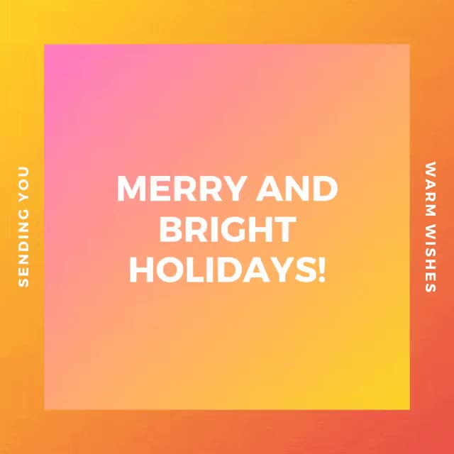 Watch and share Orange And Yellow Gradients Christmas Animated Social Media GIFs on Gfycat