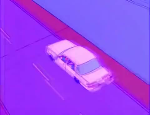 Watch and share Bart On The Road Simpsonwave Gif GIFs on Gfycat